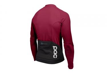 maillot manches longues poc 2017 resistance pro xc zip rouge l