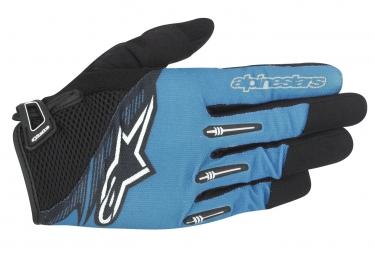 gants longs alpinestars flow bleu noir xl