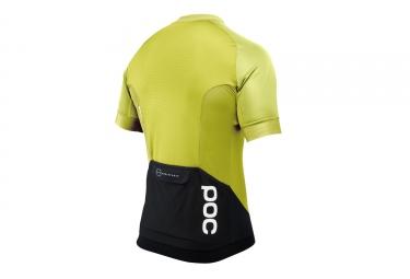 maillot manches courtes poc 2017 resistance pro xc zip jaune l