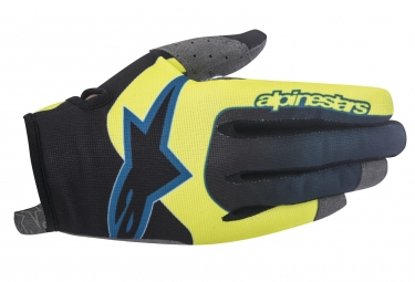 gants longs alpinestars vector jaune noir xl