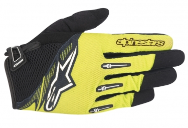 gants longs alpinestars flow jaune noir xl
