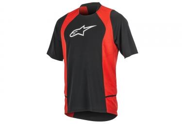 maillot manches courtes alpinestars drop 2 rouge noir xl