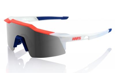 Lunettes 100% Speedcraft SL Bleu Blanc Rouge Ecran Fumé