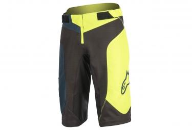 short alpinestars vector 2017 noir jaune 30
