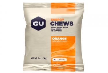 GU Gommes énergétiques CHEWS Orange 90g