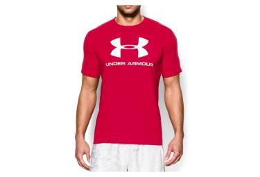 Under Armour Short Sleeves Jersey Sportstyle Logotipo Rojo