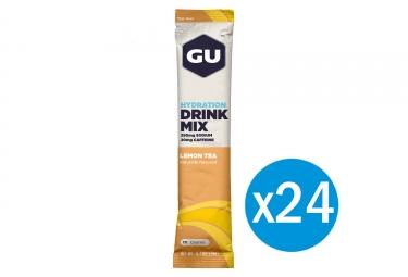 GU Boisson énergétique DRINK MIX Thé citron 24 Sticks 19g