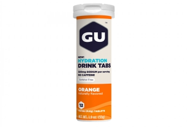 gu 12 pastilles effervescentes tabs orange