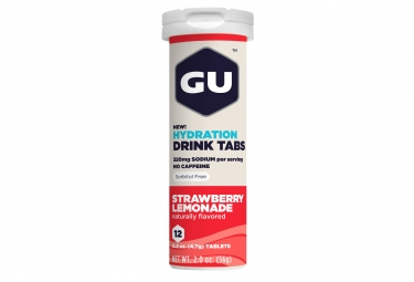 GU Energy Drink TABS Strawberry Lemonade x12