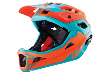 casque integral leatt dbx 3 0 enduro v1 orange bleu 2018 s 51 55 cm