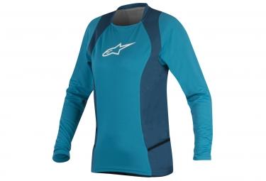 maillot manches longues femme alpinestars stella drop 2 bleu ocean blanc l