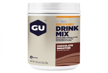 gu boisson de recuperation recovery drink mix chocolat smoothie 735g
