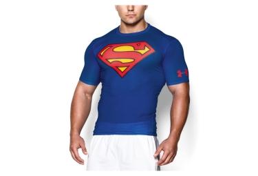Maillot de Compression Manches Courtes Under Armour Alter Ego Superman Bleu