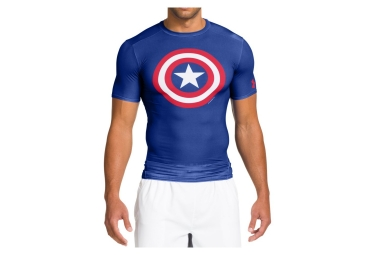 Under Armour Compression Short Sleeves Jersey Captain Alter Ego America Blue