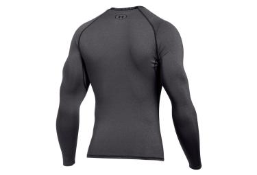 sous maillot de compression manches longues under armour heatgear armour gris m