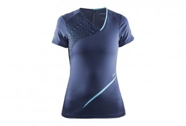 T shirt femme craft breakaway manches courtes bleu fonce xs