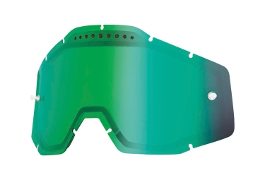 100% Vented Dual Lense RACECRAFT, ACCURI and STRATA Green Iridium