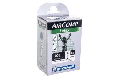 Michelin chambre a air route a1 aircomp latex 700x22 23 presta 60mm