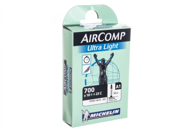 michelin chambre a air route a1 aircomp ultralight 700x18 23 valve presta 52mm