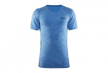t shirt craft core seamless manches courtes bleu m