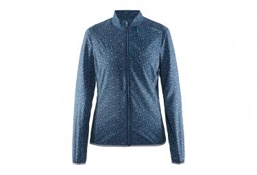 Veste femme craft mind bleu motif s
