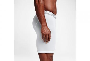 cuissard de compression homme nike pro cool 15cm blanc l