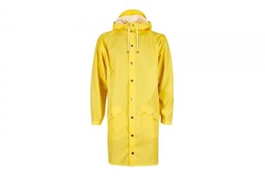 Rains Long Jacket Waterproof Jacket Yellow