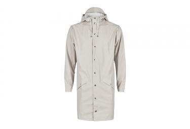 Veste impermeable rains long jacket gris m l