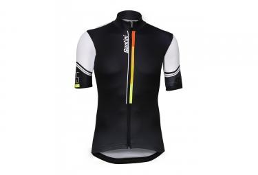 Doublon 1075gitkarma s maillot manches courtes santini 2017 karma noir blanc s