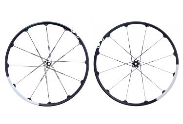 paire de roues crankbrothers 2017 cobalt 3 29 15x100mm 12x142mm noir blanc