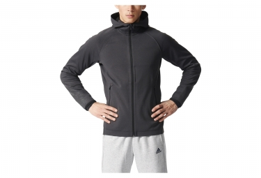 Sweat a capuche adidas running climaheat capsule gris l