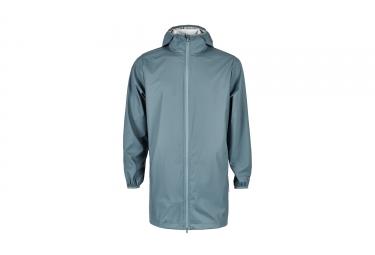 Veste impermeable rains base long jacket bleu xs s