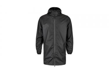 Veste impermeable rains base long jacket noir s m