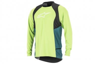 maillot manches longues alpinestars drop 2 vert s