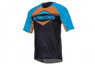 maillot manches courtes alpinestars mesa bleu orange l