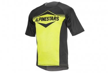 maillot manches courtes alpinestars mesa jaune fluo noir m
