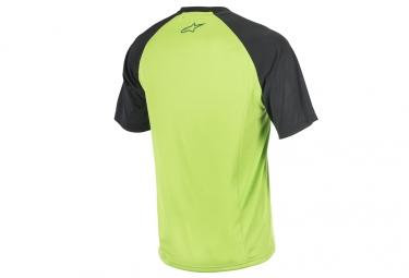 maillot manches courtes alpinestars trailstar vert noir m