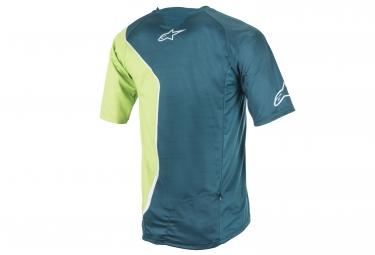 maillot manches courtes alpinestars sierra vert xl