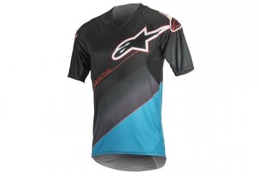 maillot manches courtes alpinestars vector bleu gris l