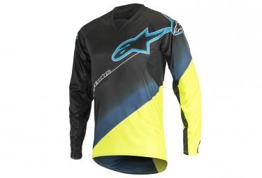 maillot manches longues alpinestars vector jaune bleu xl
