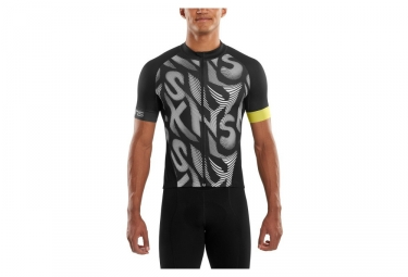 maillot manches courtes skins cycle noir blanc m