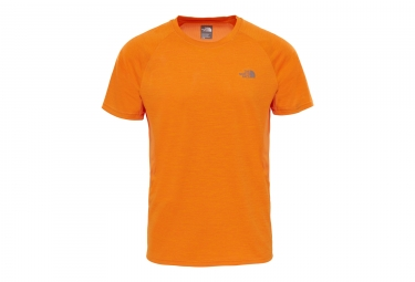 maillot manches courtes the north face ambition orange s