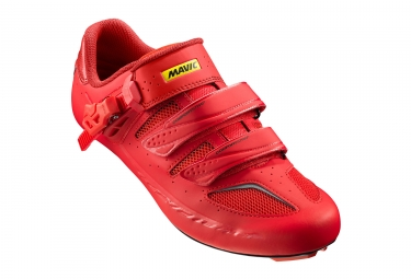 paire de chaussures route mavic 2017 ksyrium elite ii rouge 40