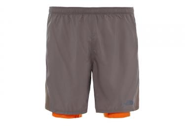 Short 2 en 1 The North Face NSR Dual Gris Orange