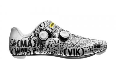 Paire de Chaussures Route MAVIC 2017 Cosmic Pro Ltd II - Edition Limitée Paris-Nice - Blanc Noir