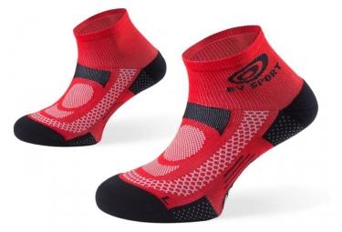 Bv sport paire de chaussettes scr one rouge 45 47