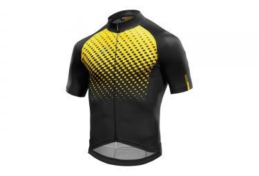 maillot manches courtes mavic 2017 cosmic graphic noir jaune xxl