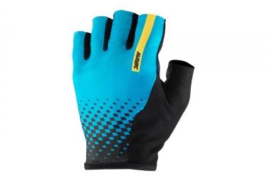 paire de gants courts mavic 2017 cosmic noir bleu l