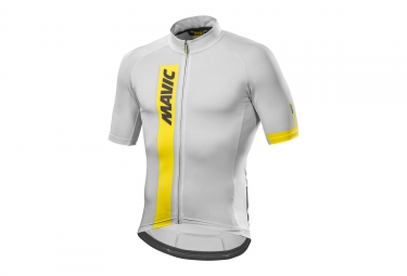maillot manches courtes mavic 2017 cosmic blanc l