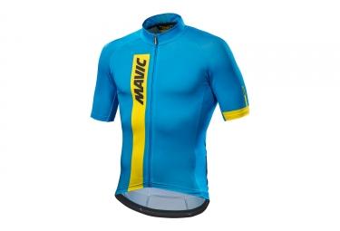 maillot manches courtes mavic 2017 cosmic bleu m